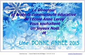 Joyeux Noël  & Bonne Année 2015